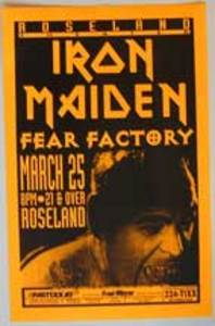 Iron Maiden Fear Factory Concert Poster