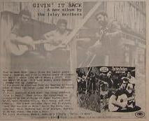 Isley Brothers Givin It Back 1971 LP Album Promo Poster Type Ad