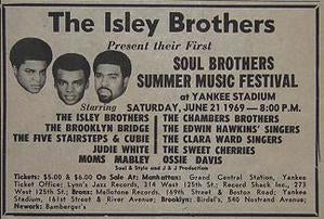 Isley Brothers Yankee Stadium Soul Brother Concert Poster Type Ad