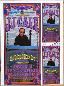 JJ Cale Concert Poster Proof Sheet