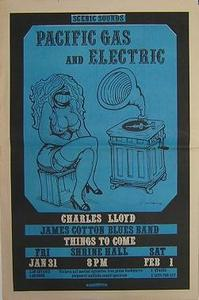 James Cotton Pacif Gas 1969 Blues Concert Poster Ad