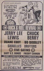 Jerry Lee Lewis Chuck Berry 1971 Concert poster Type Ad