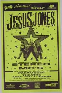 Jesus Jones Stereo MC's Denver Concert Poster