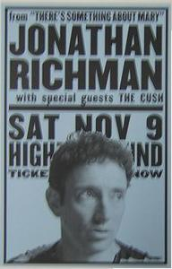Jonathan Richman 2002 Higher Ground Concert Poster