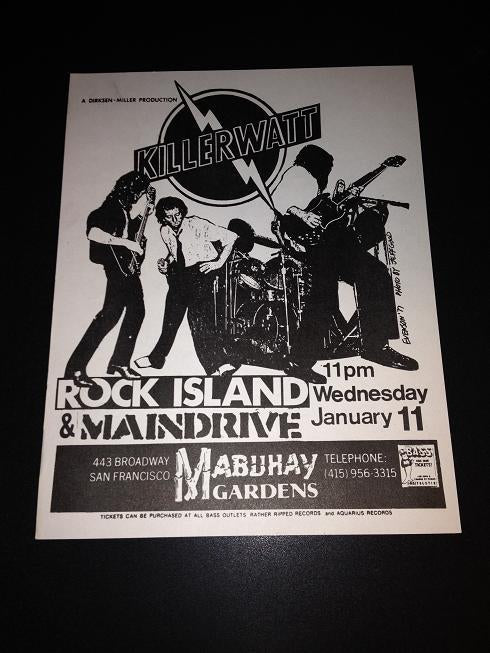 Killerwatt Rock Island Maindrive Punk Glam New Wave Mabuhay Flyer