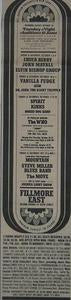 Kinks Who 1969 Fillmore East Concert Poster Type Ad
