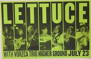Lettuce Vorzca Higher Ground Concert Poster