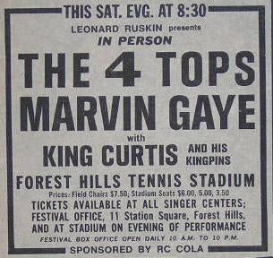 Marvin Gaye King Curtis 1968 New York Concert Poster Type Ad