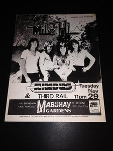 Mile Hi Nimbus Third Rail Punk New Wave Glam Mabuhay Concert Flyer