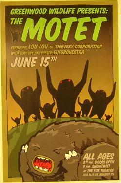 Motet Fox Theatre Boulder Concert Tour Poster