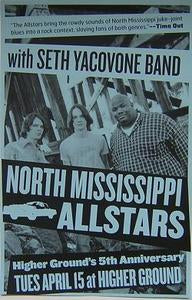 North Mississippi Allstars Burlington Vermont Concert Poster