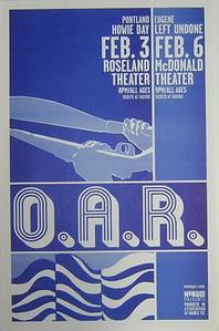 OAR Of A Revolution rare Original Northwest Concert Poster