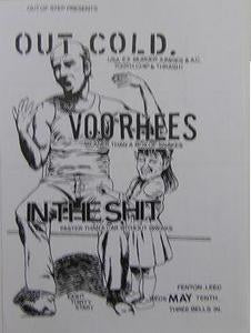 Out Cold Voorhees Punk Concert Flyer