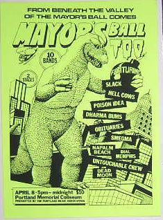 Poison Idea Hell Cows Mayors Ball Concert Poster Punk Flyer