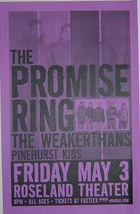 Promise Ring Weakerthans rare Portland Concert Poster