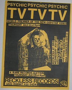 Psychic TV Sea Hags DNA Lounge Concert Poster Punk Flyer