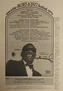 Ray Charles Ann Arbor Blues Festival 1973 Concert Poster Type Ad