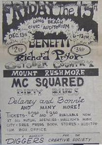 Richard Prior Diggers Alternate Concert Poster Type Ad