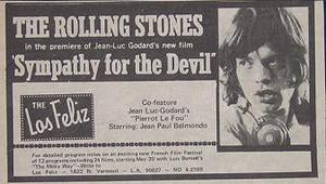 Rolling Stones Sympathy For The Devil Movie Ad