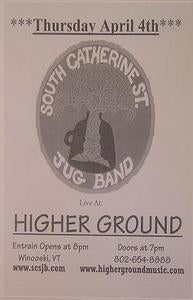 South Catherine Street Higher Ground Concert Poster