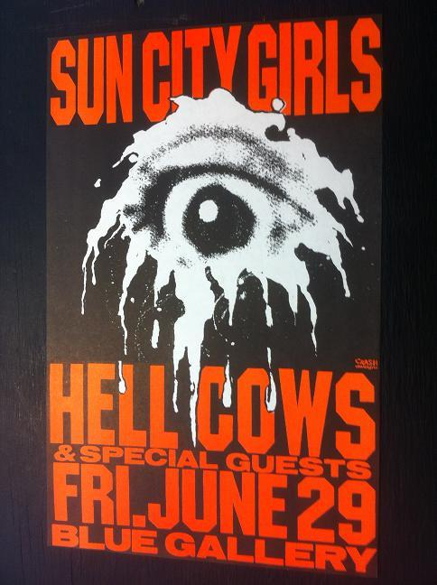 Sun City Girls Hellcows Portland Punk Concert Poster
