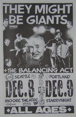 They Might Be Giants Rare Eary Portland Concert Poster