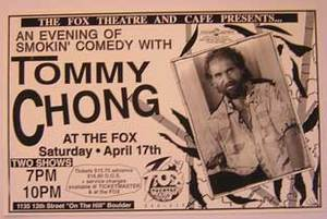 Tommy Chong Comedy Concert Poster