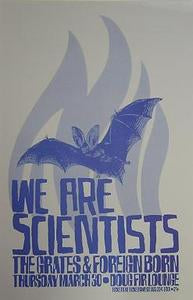 We Are Scientists Portland Concert Tour Poster