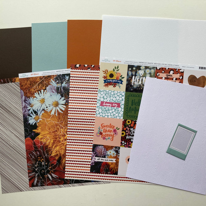 Scrapaholix October Kits - Woodgrain Cardstock