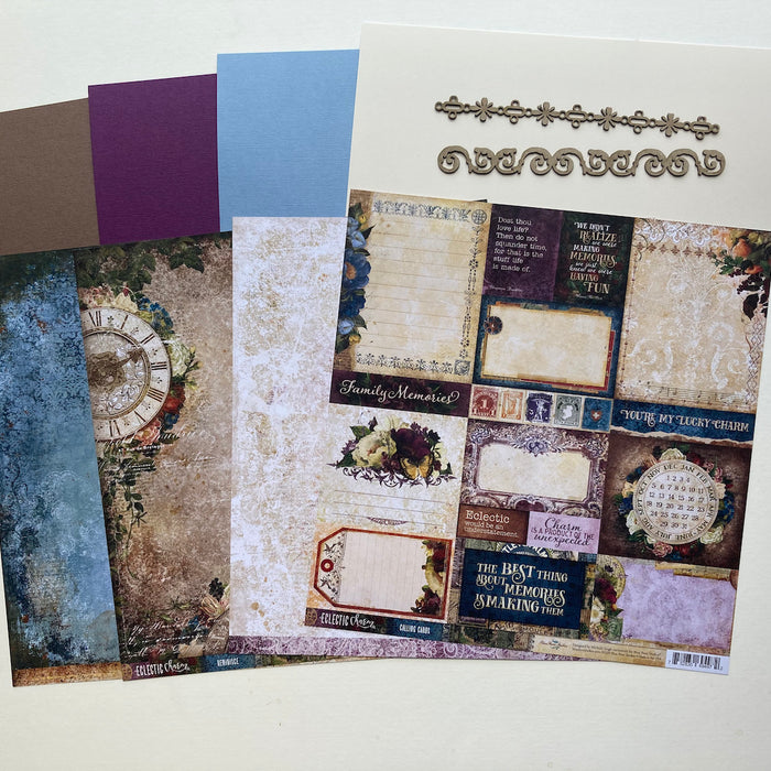 April Scrapaholix Kits - Eclectic Charm