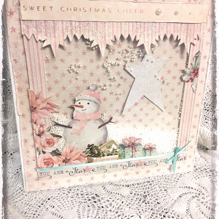 Snowman Shaker Card by LOUISE CROSBIE