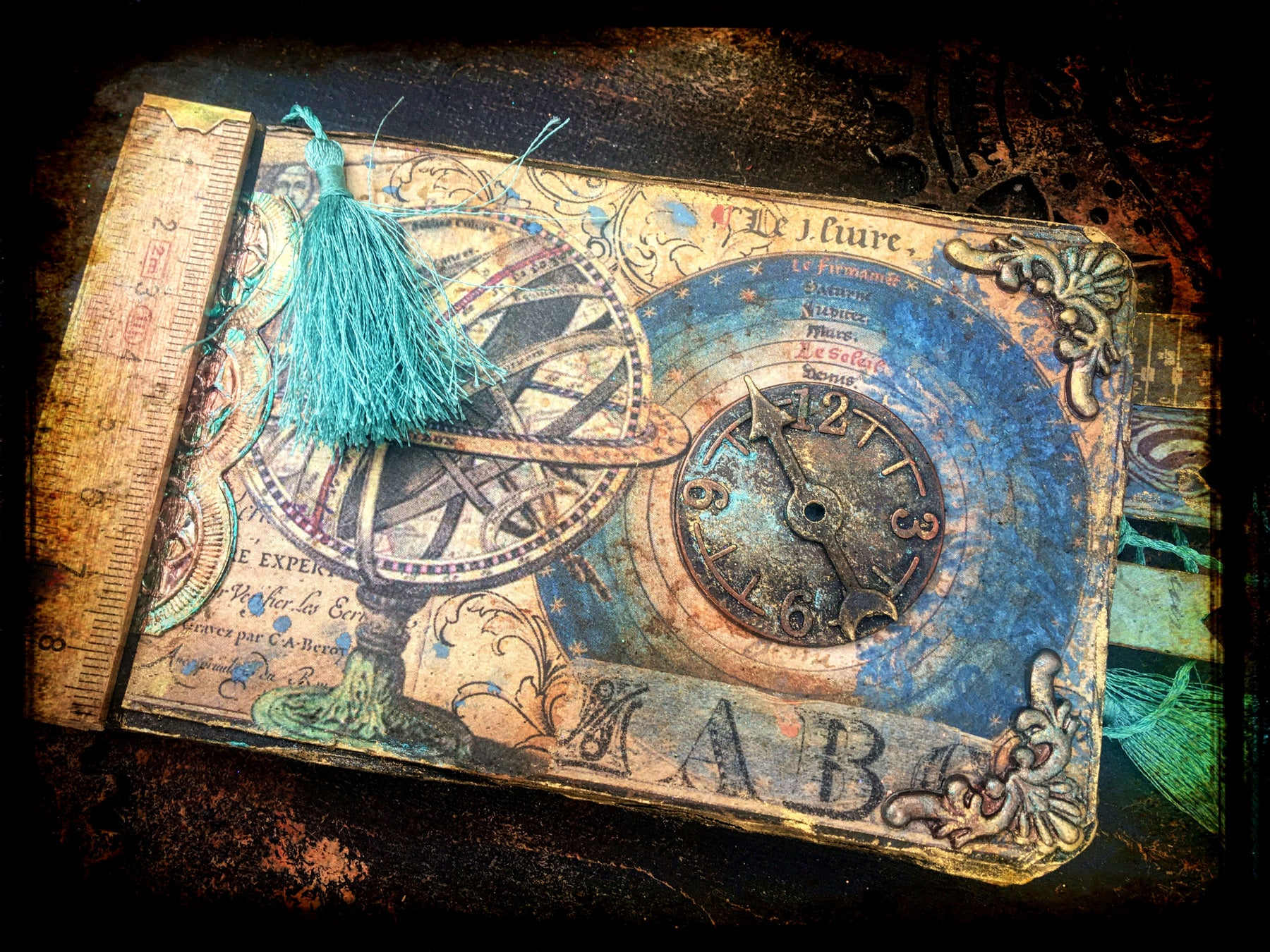Alchemy: Mini tag book by LOUISE CROSBIE