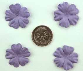 Purple 2.5cm Single Flower