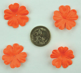 Orange 2.5cm Single Flower