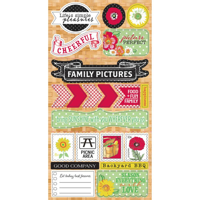 Cheerful Components Cardstock Die-Cuts