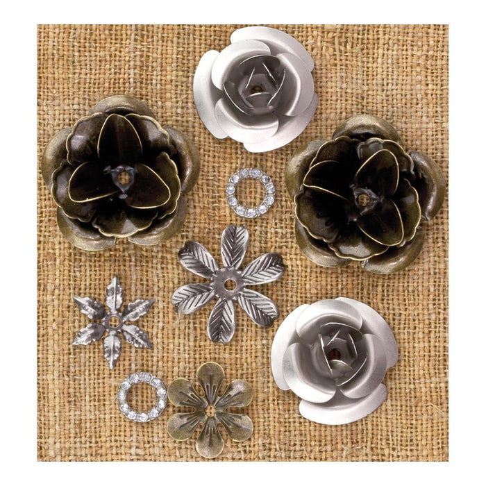 Mechanicals Metal Vintage Trinkets - Roses