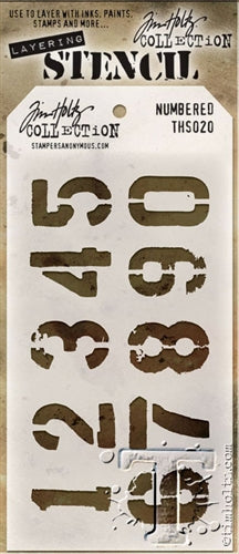 Tim Holtz Layering Stencil - Numbered