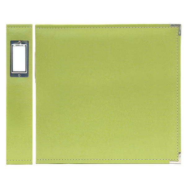 "We R Classic Leather 3-Ring Binder 12""X12"" - Kiwi"