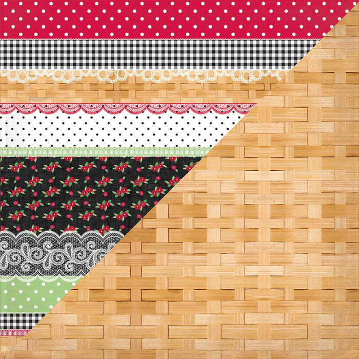 Cheerful - Eleven Border Mix/Plain Basket Weave