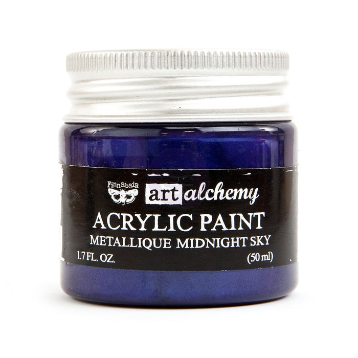 Finnabair Art Alchemy Acrylic Paint - Metallique Midnight Sky