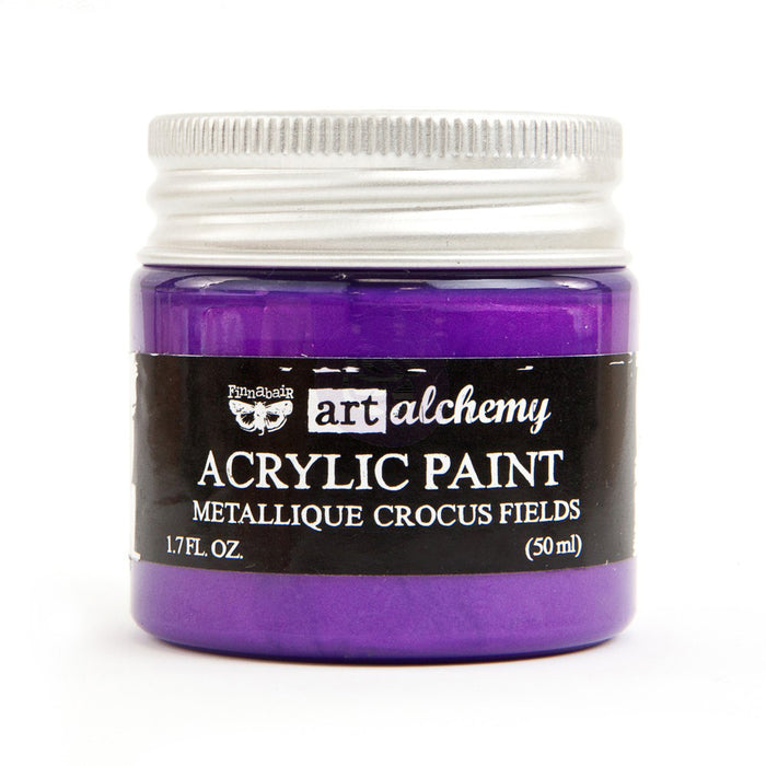 Finnabair Art Alchemy Acrylic Paint - Metallique Crocus Fields
