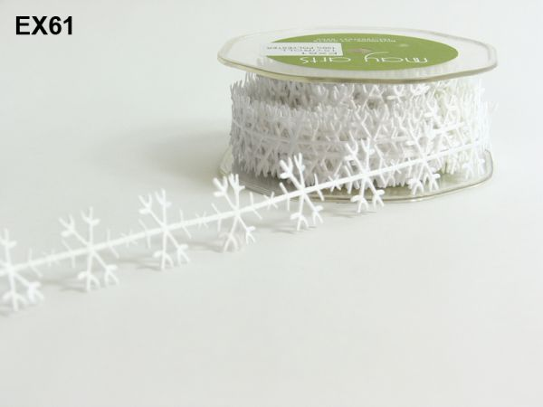Snowflake ribbon - White