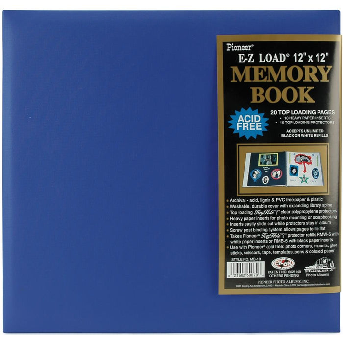 Pioneer 12x12 Memory Book - Sea Blue