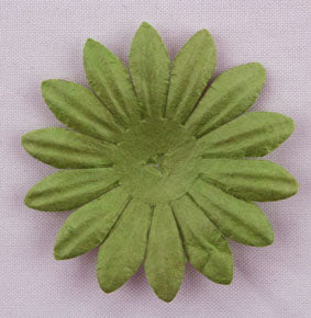 Green 4cm Single Flower