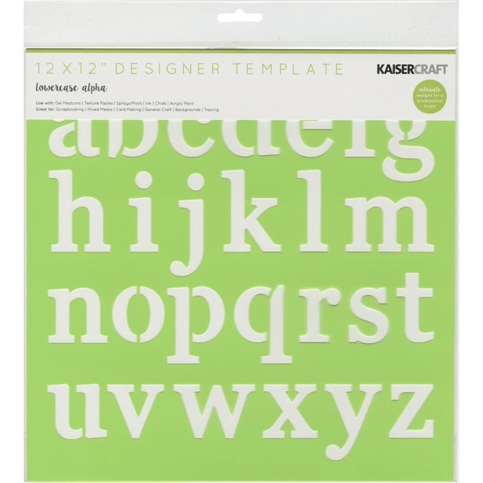 "Designer Template 12""X12"" - Lowercase Alpha"