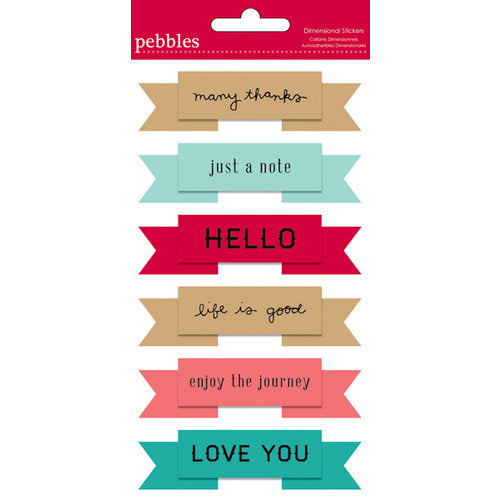 Dimensional Stickers - Banner Sayings
