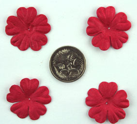 Red 2.5cm single flower