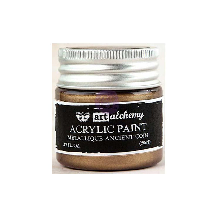 Finnabair Art Alchemy Acrylic Paint - Metallique Ancient Coin