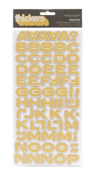 Thickers Campy Trails Glossy Chipboard Stickers - Meadow-Popcorn