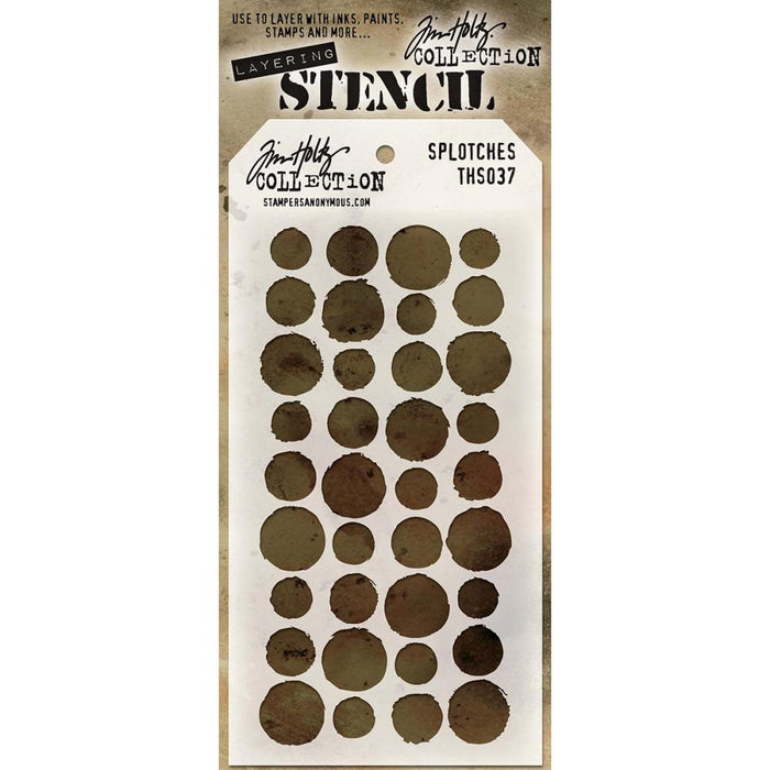 Tim Holtz Layering Stencil - Splotches
